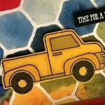 Yellow Pickup Truck Heading for Adventure