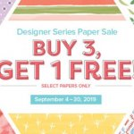 Stampin' Up! Designer Series Paper Sale
