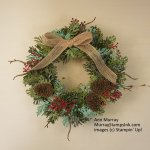 Winter Wreath with Boughs & Berries