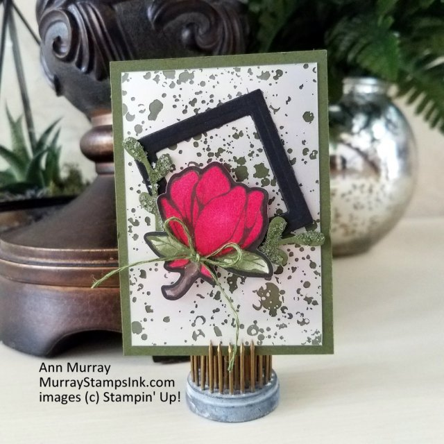 Artist Trading Cards using Magnolia Lane and Mercury Glass Specialty Designer Series Papers and Stampin' Blends.