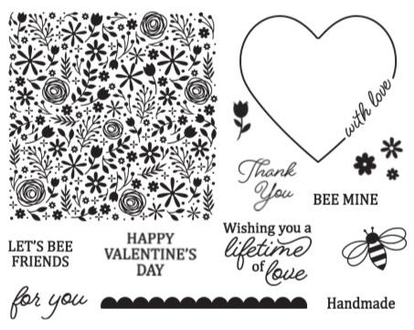 Paper Pumpkin Valentine's stamp Set