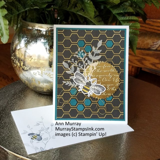 Card with bee theme using Honey Bee Bundle from Stampin' Up!