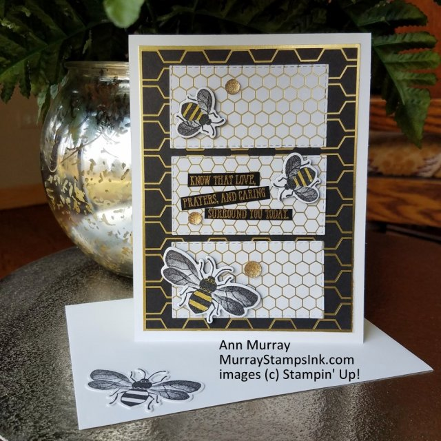 Encouragement card with bee theme using Honey Bee Bundle from Stampin' Up!