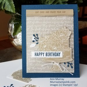 Birthday card on with embossed vellum and a