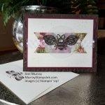 Honey Bee card using Pressed Petals DSP banner