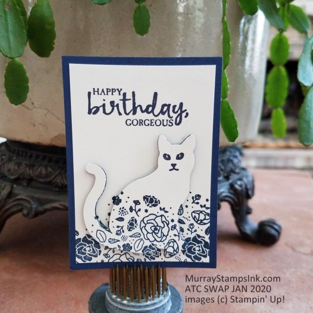 2-tier Eclipse stamping and card with cat punch