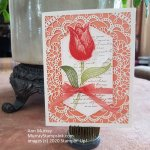 Single Timeless Tulip on Laser-cut Notecard