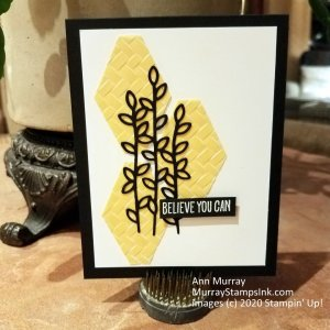 Simple white, black and yellow encouragement card