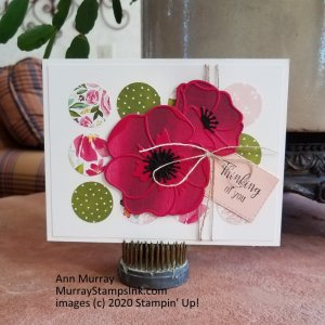 background from patterned paper with poppies as focal image