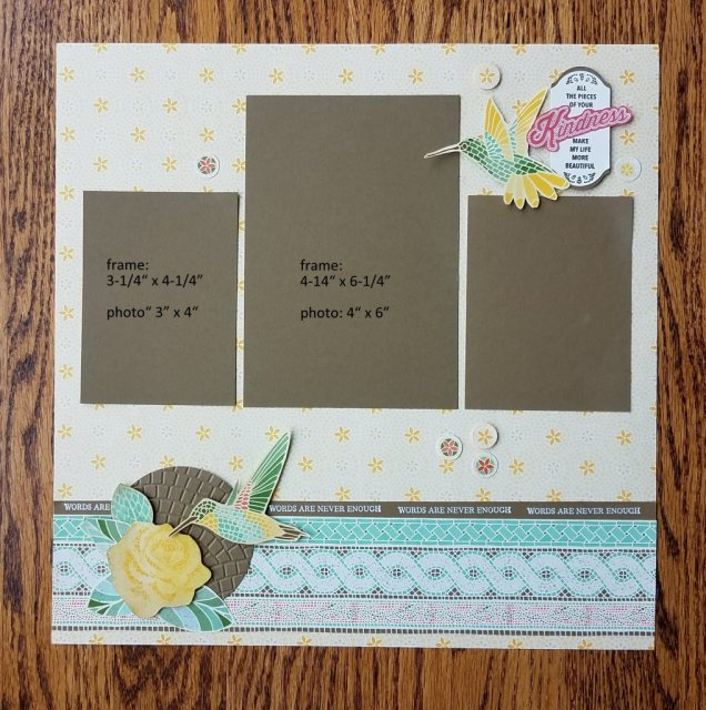 3 photo scrapbook page