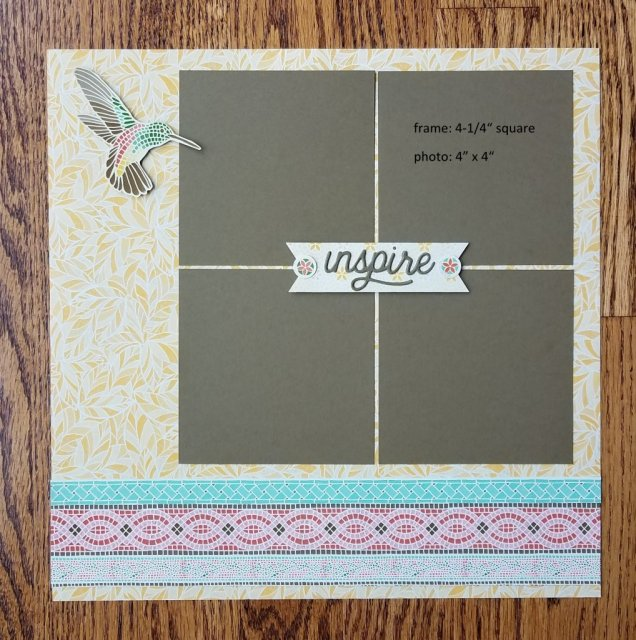 4 photo scrapbook page
