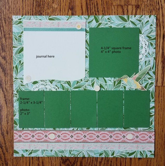 6 photo scrapbook Page