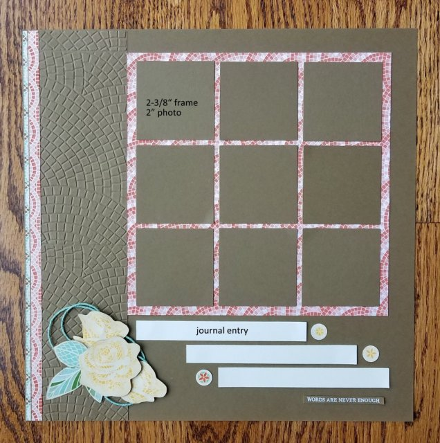 9 photo scrapbook page