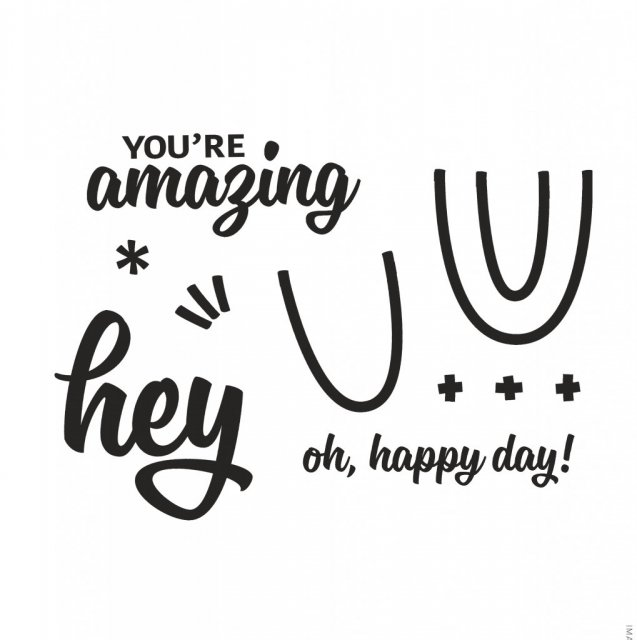 stamp set you're amazing and oh, happy day sentiment