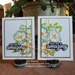 BLOSSOMS IN BLOOM – 2 from 1 CARD