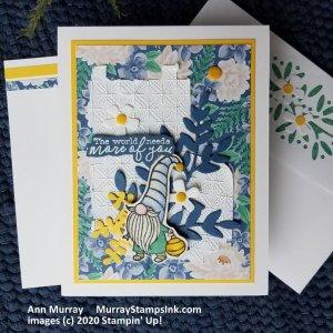 blue & yellow garden gnome
